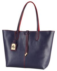 Lauren by Ralph Lauren - Blue Crawley Unlined Tote - Lyst