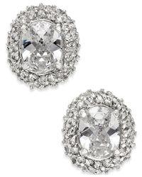 Kate Spade | Metallic Crystal Oval Stud Earrings | Lyst