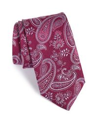 John W. Nordstrom | Pink 'parma' Paisley Silk Tie for Men | Lyst