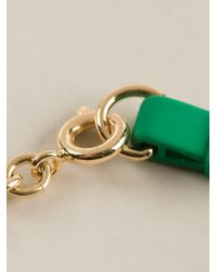Marc By Marc Jacobs - Metallic 'Bow Tie With Apple' Bracelet - Lyst