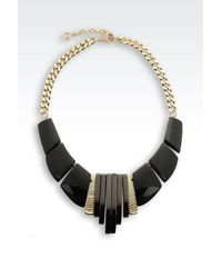 Emporio Armani - Black Necklace - Lyst