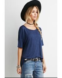 Forever 21 - Blue Drapey Pocket Tee - Lyst
