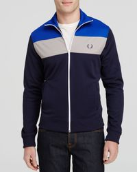 Fred Perry - Black Color Block Track Jacket for Men - Lyst