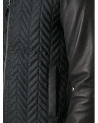 Dolce & Gabbana - Black Zigzag Pattern Bomber Jacket for Men - Lyst
