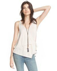Free People | White 'babetown' Tank | Lyst