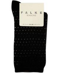 Falke | Black Cosy Dot Ankle Socks | Lyst