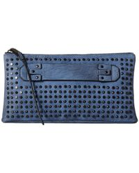She + Lo | Blue Livin The Dream Mini Studded Clutch | Lyst