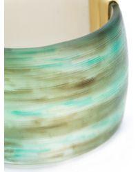 Alexis Bittar | Green Liquid Metal Hinge Cuff | Lyst