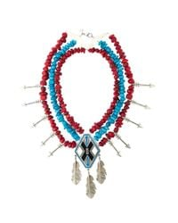 KTZ | Blue Oversized Necklace | Lyst