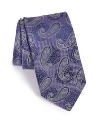 John W. Nordstrom | Purple 'temple Pine' Silk Tie for Men | Lyst
