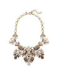 J.Crew - Brown Floral Pastel Statement Necklace - Lyst