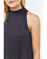 Silence + Noise | Black Mock Turtleneck Tunic Tank Top | Lyst