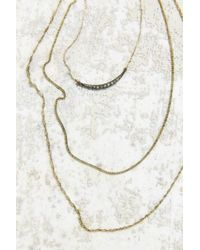 Urban Outfitters - Metallic Layers Of Gold Necklace - Lyst