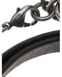 Julius - Black Wrap Bracelet for Men - Lyst