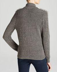 Nicole Miller Artelier - Gray Sweater - Knit Rabbit Fur Combo - Lyst