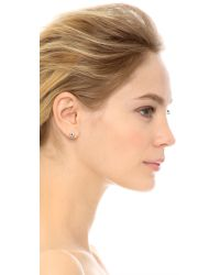 Marc By Marc Jacobs | Metallic Tiny Daisy Stud Earrings - Argento | Lyst