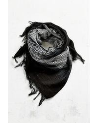 Urban Outfitters | Black 2-tone Long Brushed Scarf | Lyst