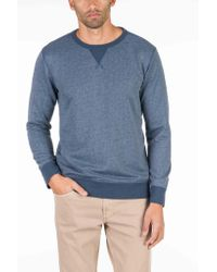 Faherty Brand - Blue French Terry Crewneck for Men - Lyst