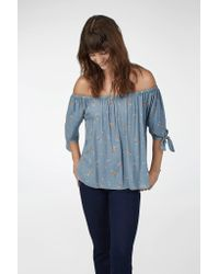 Faherty Brand - Blue Layla Top - Lyst