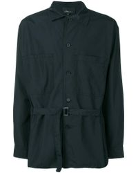 3.1 Phillip Lim - Blue Printed Poplin Shirt for Men - Lyst