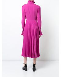 Co. - Pink Full Length Pleated Dress - Lyst