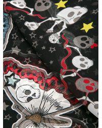 Alexander McQueen - Black Patterned Scarf - Lyst