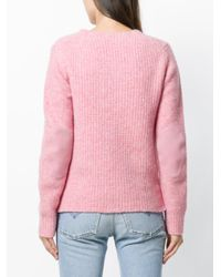 Rag & Bone - Pink Ribbed Detail Jumper - Lyst