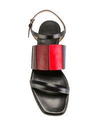 Paul Smith - Black Panelled Colour Block Sandals - Lyst