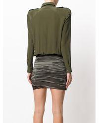 Faith Connexion - Green Lace Buckle Detail Mini Dress - Lyst