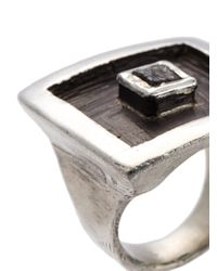 Henson - Metallic Floating Cube Square Ring - Lyst