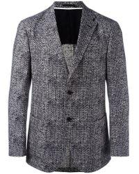 Z Zegna - Blue Patterned Blazer for Men - Lyst