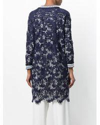 Ermanno Scervino - Blue Floral Lace Jacket - Lyst