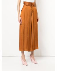 Mikio Sakabe Brown High-waisted Cropped Trousers