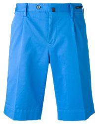 PT01 - Blue Bermuda Shorts for Men - Lyst