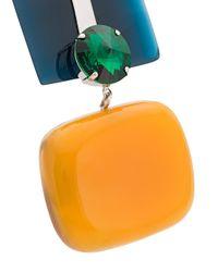 Marni - Green Square Pendant Necklace - Lyst