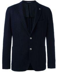 Tagliatore - Blue Two Button Blazer for Men - Lyst