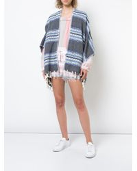 Lemlem - Blue Fringed Striped Kimono - Lyst