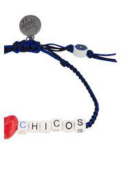 Venessa Arizaga - Black 'i Love Chicos' Bracelet - Lyst
