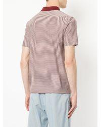 Cerruti 1881 - Red Striped Polo Shirt for Men - Lyst
