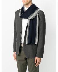 Hackett - Blue Striped Scarf for Men - Lyst