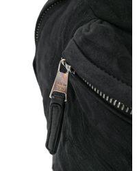 Giorgio Brato - Black Crinkled Backpack for Men - Lyst