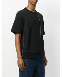 3.1 Phillip Lim - Black Kangaroo Pocket T-shirt for Men - Lyst