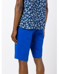 PT01 - Blue Bermuda Shorts for Men - Lyst