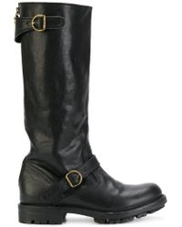 Fiorentini + Baker - Black Buckled Boots - Lyst