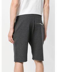 Neil Barrett - Gray Track Shorts for Men - Lyst