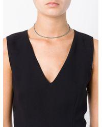 Uzerai Edits - Metallic String Diamond Necklace/bracelet - Lyst