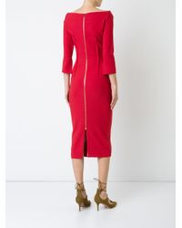 Roland Mouret - Red Ardingly Dress - Lyst