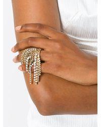 Lanvin - Metallic Crystal Cascade Ring - Lyst