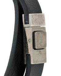 Saint Laurent - Black Logo Double-strap Bracelet for Men - Lyst