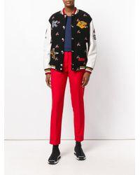 KENZO - Black Motif Sports Jacket - Lyst